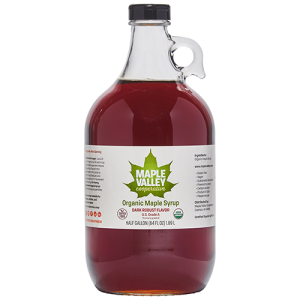 Maple Valley Coop half-gallon organic maple syrup dark and robust flavor product image