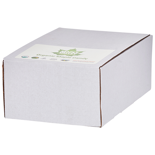 Case of organic maple candy by Maple Valley Cooperative