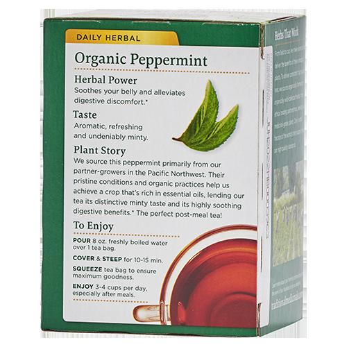 Product description of Traditional Medicinals organic peppermint tea