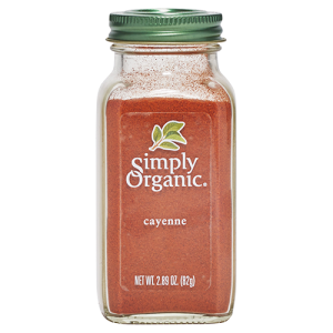 Simply Organic cayenne product image featured in Maple Valley Coop Master Cleanse kits