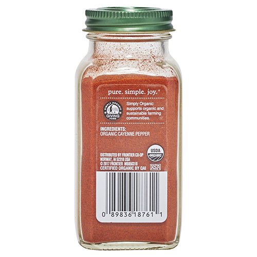 Ingredients on Simply Organic Cayenne