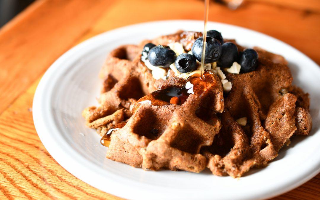 Gluten-free, vegan pumpkin spice waffles