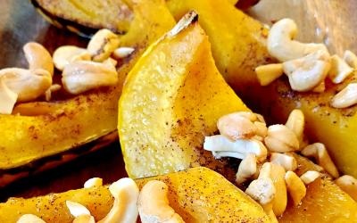 A Healthy Holiday Side: Maple Cashew Carnival Squash
