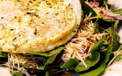 Anytime of Day – Egg and Spinach Salad with Maple Vinaigrette
