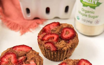 Maple Strawberry Muffins