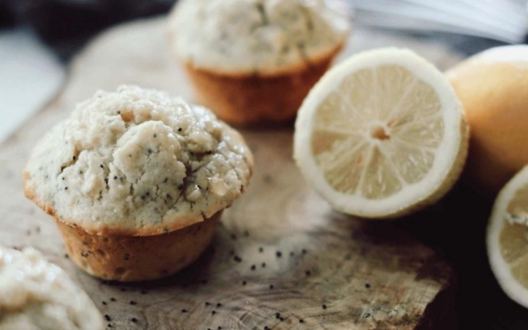 Lemon, Poppyseed, and Maple Muffins